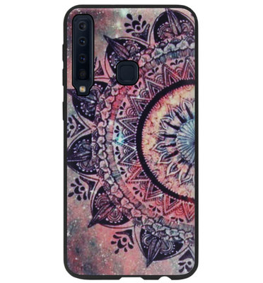 ADEL Siliconen Back Cover Softcase Hoesje voor Samsung Galaxy A9 (2018) - Mandala Bloemen Rood