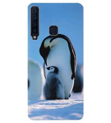 ADEL Kunststof Back Cover Hardcase Hoesje voor Samsung Galaxy A9 (2018) - Pinguin