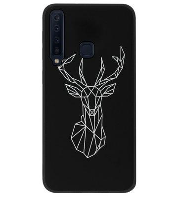 ADEL Siliconen Back Cover Softcase Hoesje voor Samsung Galaxy A9 (2018) - Herten