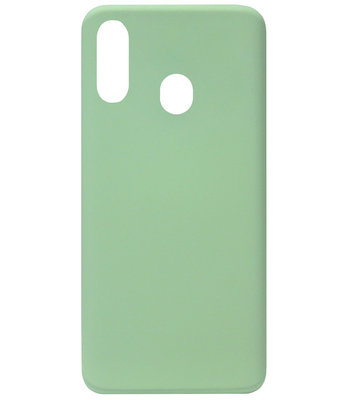 ADEL Premium Siliconen Back Cover Softcase Hoesje voor Samsung Galaxy A40 - Lichtgroen