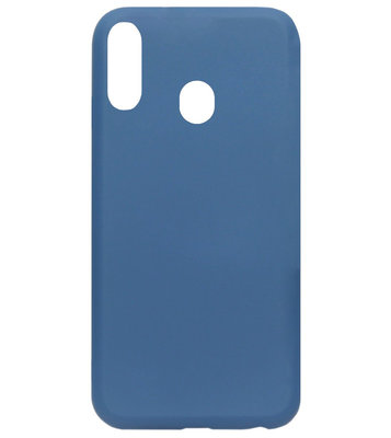 ADEL Premium Siliconen Back Cover Softcase Hoesje voor Samsung Galaxy A40 - Blauw