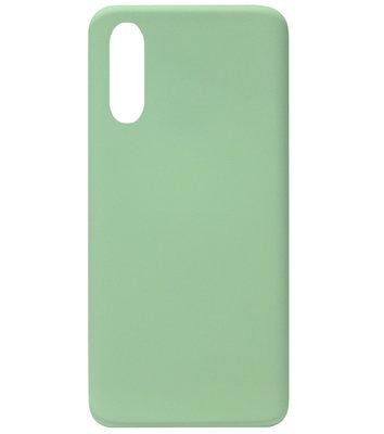 ADEL Premium Siliconen Back Cover Softcase Hoesje voor Samsung Galaxy A50 - Lichtgroen