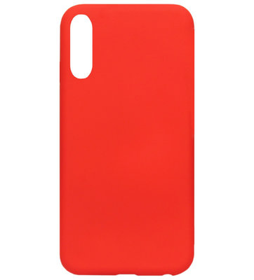 ADEL Premium Siliconen Back Cover Softcase Hoesje voor Samsung Galaxy A50(s)/ A30s - Rood