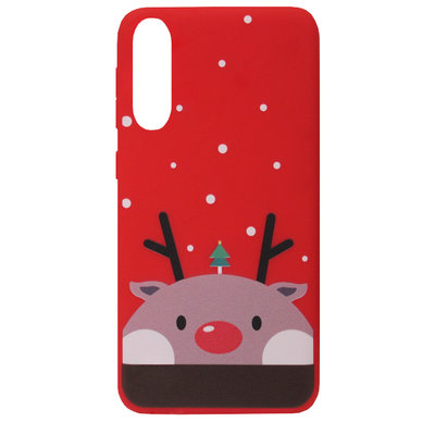 ADEL Siliconen Back Cover Softcase Hoesje voor Samsung Galaxy A50(s)/ A30s - Kerstmis Rendier