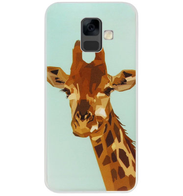 ADEL Siliconen Back Cover Softcase Hoesje voor Samsung Galaxy A6 Plus (2018) - Giraffe