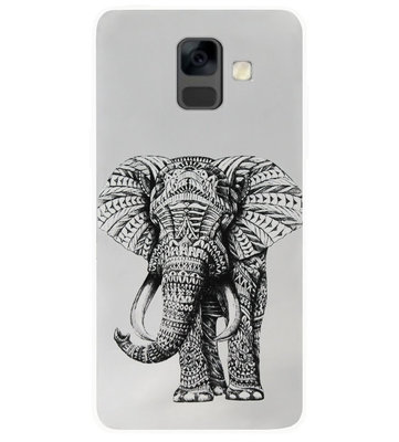 ADEL Siliconen Back Cover Softcase Hoesje voor Samsung Galaxy A6 Plus (2018) - Olifant Cartoon