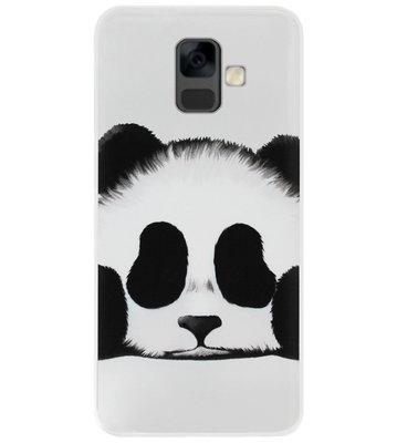 ADEL Siliconen Back Cover Softcase Hoesje voor Samsung Galaxy A6 Plus (2018) - Panda