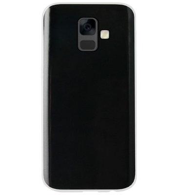 ADEL Siliconen Back Cover Softcase Hoesje voor Samsung Galaxy A6 Plus (2018) - Doorzichtig Transparant