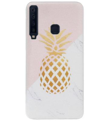 ADEL Siliconen Back Cover Softcase Hoesje voor Samsung Galaxy A9 (2018) - Ananas Goud