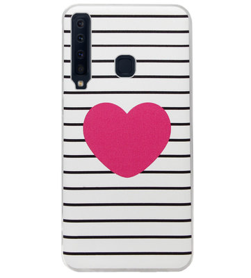 ADEL Siliconen Back Cover Softcase Hoesje voor Samsung Galaxy A9 (2018) - Hartjes
