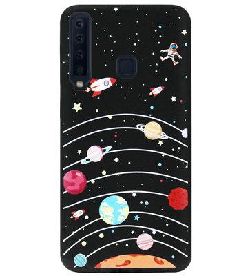 ADEL Siliconen Back Cover Softcase Hoesje voor Samsung Galaxy A9 (2018) - Heelal Ruimte Universum