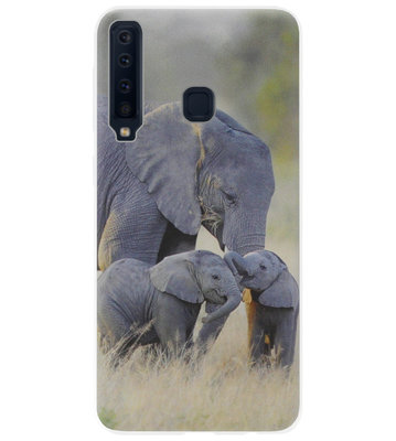 ADEL Siliconen Back Cover Softcase Hoesje voor Samsung Galaxy A9 (2018) - Olifant Familie