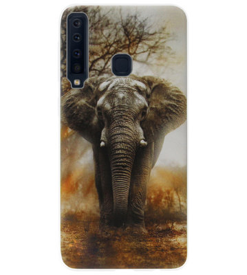 ADEL Siliconen Back Cover Softcase Hoesje voor Samsung Galaxy A9 (2018) - Olifant Grijs
