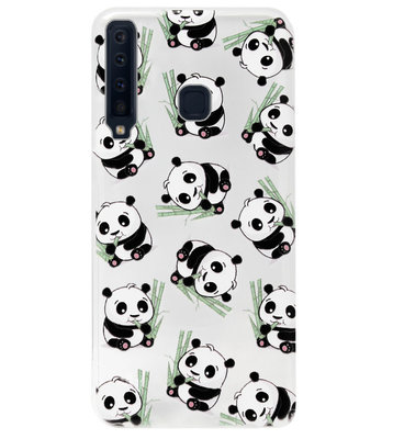 ADEL Siliconen Back Cover Softcase Hoesje voor Samsung Galaxy A9 (2018) - Panda's