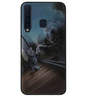ADEL Siliconen Back Cover Softcase Hoesje voor Samsung Galaxy A9 (2018) - Poezen Tijger