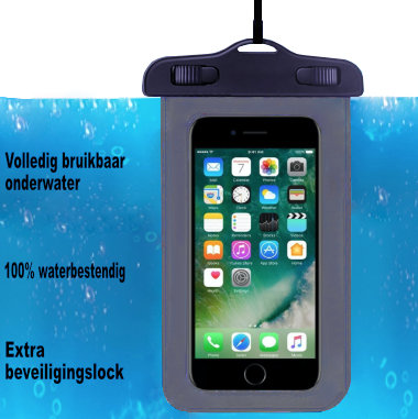 ADEL Waterdicht PVC Onderwater hoesje voor iPhone 8 Plus - Zwart