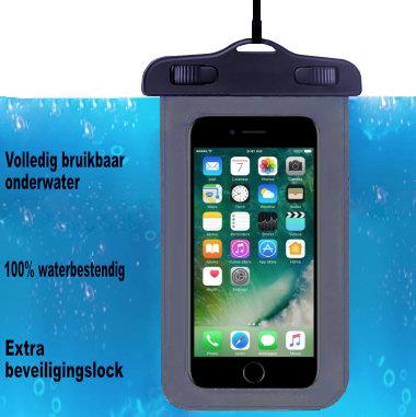 ADEL Waterdicht PVC Onderwater hoesje voor Samsung Galaxy A8 (2018) Plus - Zwart
