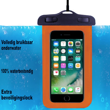 ADEL Waterdicht PVC Onderwater hoesje voor Samsung Galaxy J7 (2017) - Oranje