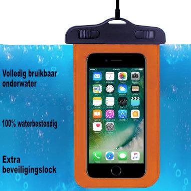 ADEL Waterdicht PVC Onderwater hoesje voor Motorola G7 Play - Oranje