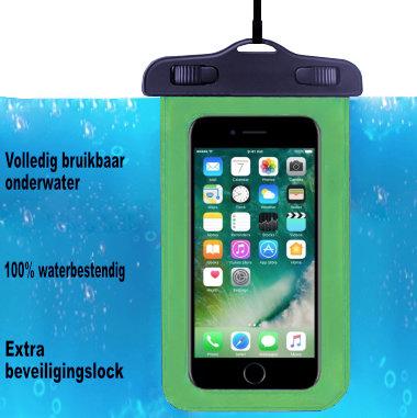 ADEL Waterdicht PVC Onderwater hoesje voor Samsung Galaxy M10s - Groen