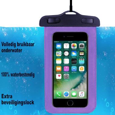 ADEL Waterdicht PVC Onderwater hoesje voor iPhone XS Max - Paars