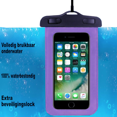 ADEL Waterdicht PVC Onderwater hoesje voor Samsung Galaxy A10 - Paars