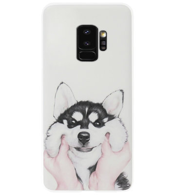 ADEL Siliconen Back Cover Softcase Hoesje voor Samsung Galaxy S9 - Husky Hond