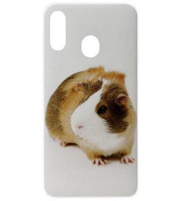 ADEL Siliconen Back Cover Softcase Hoesje voor Samsung Galaxy A40 - Cavia