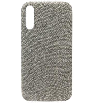 ADEL Kunststof Back Cover Hardcase Hoesje voor Samsung Galaxy A50(S)/ A30S - Stoffen Design Grijs
