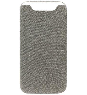 ADEL Kunststof Back Cover Hardcase Hoesje voor Samsung Galaxy A80/ A90 - Stoffen Design Grijs