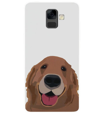 ADEL Siliconen Back Cover Softcase Hoesje voor Samsung Galaxy A6 Plus (2018) - Labrador Hond