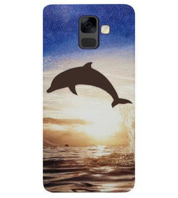 ADEL Siliconen Back Cover Softcase Hoesje voor Samsung Galaxy A6 Plus (2018) - Dolfijn
