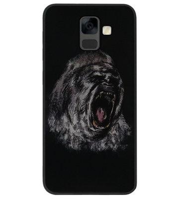 ADEL Siliconen Back Cover Softcase Hoesje voor Samsung Galaxy A6 Plus (2018) - Apen Gorilla