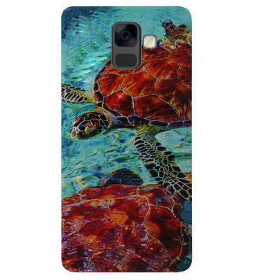 ADEL Siliconen Back Cover Softcase Hoesje voor Samsung Galaxy A6 Plus (2018) - Schildpad Zee