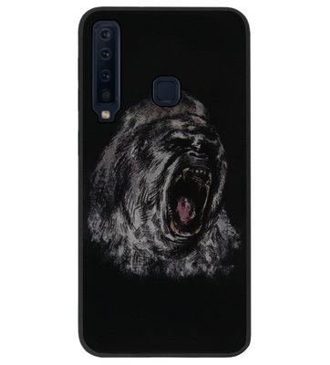 ADEL Siliconen Back Cover Softcase Hoesje voor Samsung Galaxy A9 (2018) - Apen Gorilla