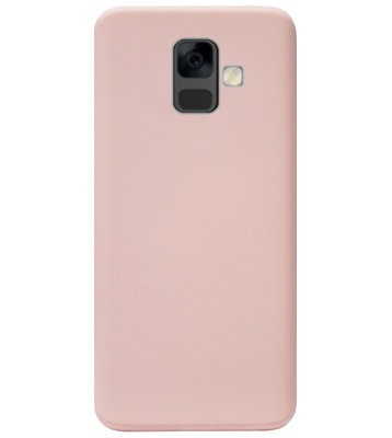 ADEL Premium Siliconen Back Cover Softcase Hoesje voor Samsung Galaxy A6 Plus (2018) - Roze