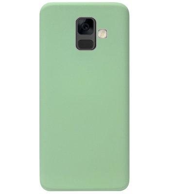 ADEL Premium Siliconen Back Cover Softcase Hoesje voor Samsung Galaxy A6 Plus (2018) - Lichtgroen