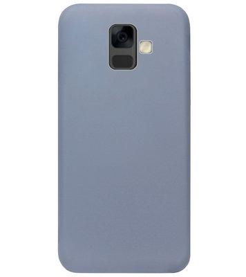 ADEL Premium Siliconen Back Cover Softcase Hoesje voor Samsung Galaxy A6 Plus (2018) - Lavendel Blauw
