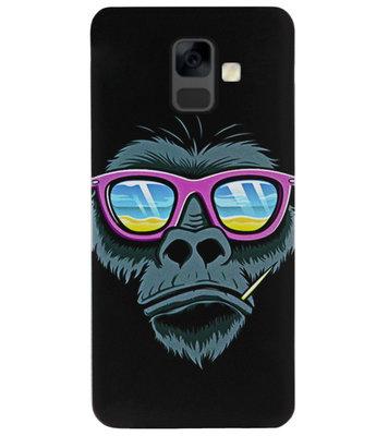 ADEL Siliconen Back Cover Softcase Hoesje voor Samsung Galaxy A6 Plus (2018) - Apen Gorilla Cartoon