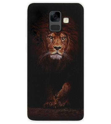 ADEL Siliconen Back Cover Softcase Hoesje voor Samsung Galaxy A6 Plus (2018) - Leeuw