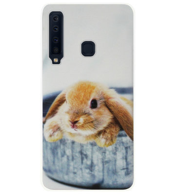 ADEL Siliconen Back Cover Softcase Hoesje voor Samsung Galaxy A9 (2018) - Konijn Broekzak