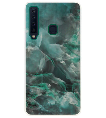 ADEL Siliconen Back Cover Softcase Hoesje voor Samsung Galaxy A9 (2018) - Marmer Blauw
