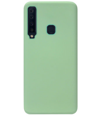 ADEL Premium Siliconen Back Cover Softcase Hoesje voor Samsung Galaxy A9 (2018) - Lichtgroen
