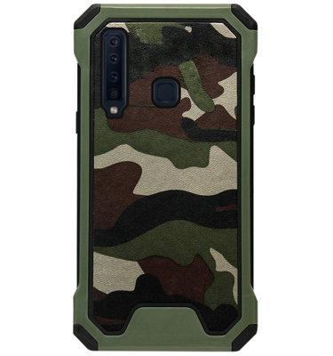 ADEL Kunststof Bumper Case Hoesje voor Samsung Galaxy A9 (2018) - Camouflage