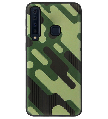 ADEL Siliconen Back Cover Softcase Hoesje voor Samsung Galaxy A9 (2018) - Camouflage