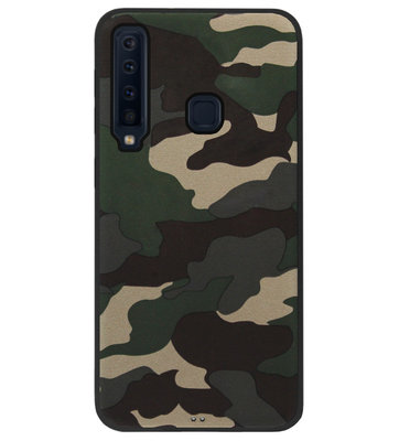 ADEL Siliconen Back Cover Softcase Hoesje voor Samsung Galaxy A9 (2018) - Camouflage Stoer