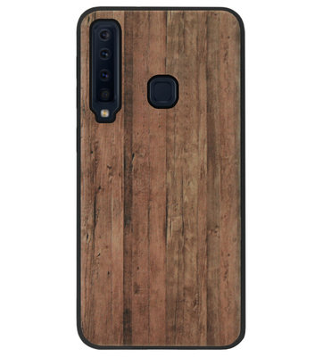 ADEL Siliconen Back Cover Softcase Hoesje voor Samsung Galaxy A9 (2018) - Houten Design Lichtbruin