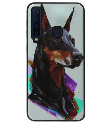 ADEL Siliconen Back Cover Softcase Hoesje voor Samsung Galaxy A9 (2018) - Doberman Pinscher Hond