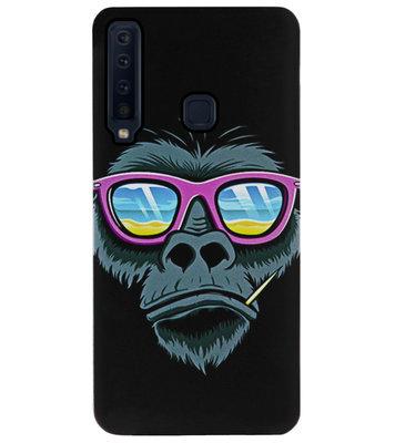 ADEL Siliconen Back Cover Softcase Hoesje voor Samsung Galaxy A9 (2018) - Apen Gorilla Cartoon