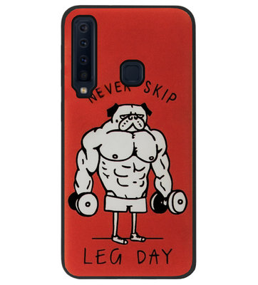 ADEL Siliconen Back Cover Softcase Hoesje voor Samsung Galaxy A9 (2018) - Fitness Bodybuilder